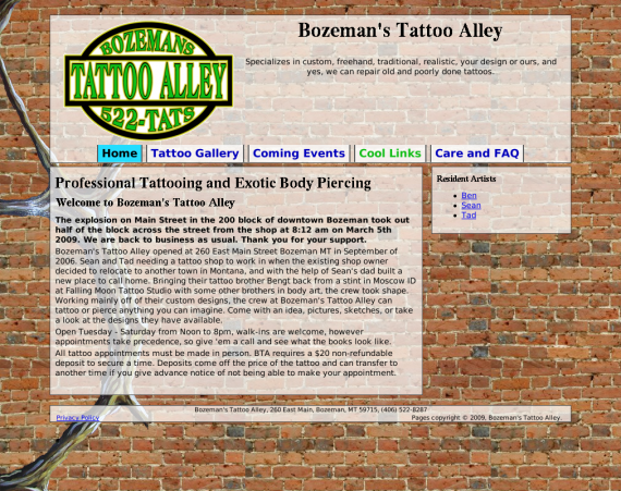 Bozeman's Tattoo Alley
